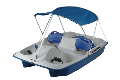 Best Buy! SUNDOLPHIN Sun Dolphin Sun Slider 5 Seat Pedal Boat with Canopy (Blue)