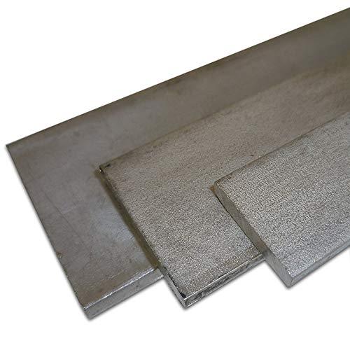 B&T Metall Edelstahl Flachstahl | Bandstahl 1.4301 V2A, roh, gewalzt | Maße 20 x 3 mm, Länge ca. 1,0 m
