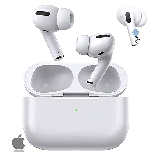 Wireless earbuds, bluetooth 5. 0 headphone, with 24h charge case, touch control, ipx5 waterproof, 3d stereo sound, noise canceling, pop-up pairing compatible with apple/airpods pro/iphone/android