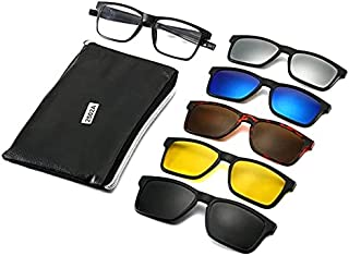 Five-in-one Magnetic Glasses with adjustable Frame