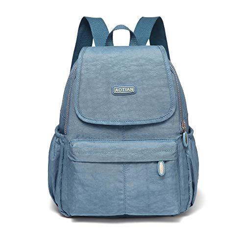 AOTIAN Kleine Rucksack Für Mädchen Und Damen Leichtgewicht Lässiger Tagesrucksack Schultaschen 10 Liter Hellblau