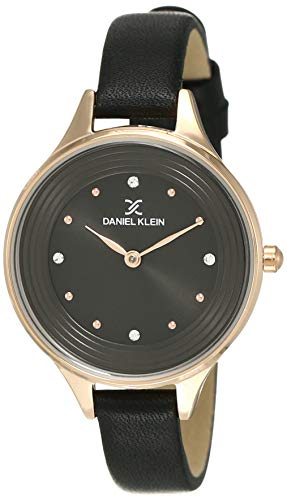 Daniel Klein Analog Black Dial Women's Watch-DK12037-6