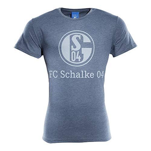 FC Schalke 04 T-Shirt Basic Navy meliert (XXXL)