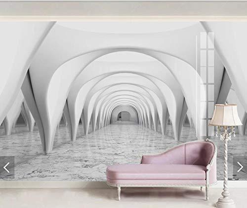 Papel tapiz mural 3D Columna romana Puerta Papel tapiz Mural Papel tapiz Rollos para sala de estar Arte de la pared Pintura Papel De Parede Pared decorativa 400(W) X280(H) Cm