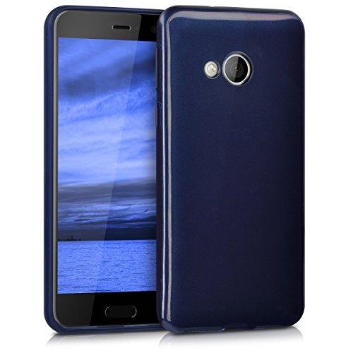 kwmobile Hülle kompatibel mit HTC U Play - Handyhülle - Handy Hülle in Hochglanz Blau
