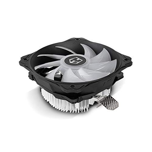Hummer H-123 RGB- NXHUMMERH123RGB - Ventilador CPU RGB, compatible con AMD&Intel, ventilador 120mm, control inteligente PMW, color negro