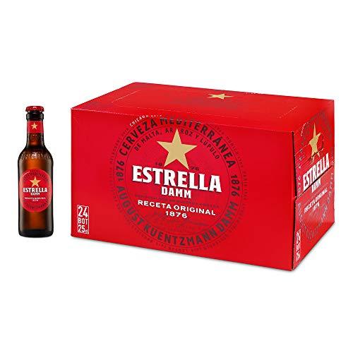 Estrella Damm Cerveza - Caja de 24 Botellas 25cl