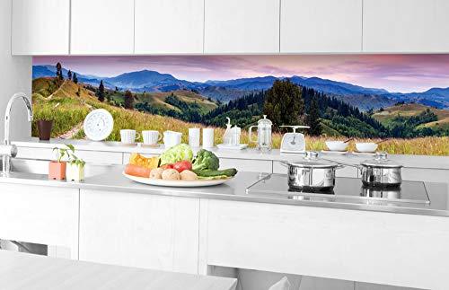 DIMEX LINE Film Autoadhesivo de Cocina COLINAS FLORECIDAS 350 x 60 cm | Decoración de Cocina