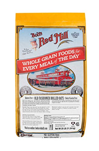 Bob's Red Mill Gluten Free Old Fashion Rolled Oats, 25 Pound