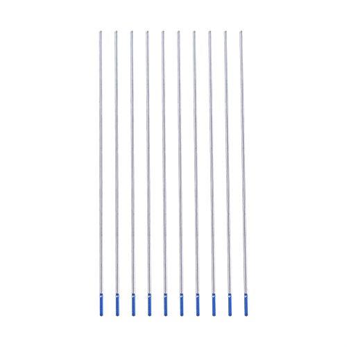 Electrodo de Tungsteno de Lantano, Electrodos de Tungsteno Azul WL20 Excelente Rendimiento de Soldadura Fácil de Crear un Arco Eléctrico(1.6 * 150mm)