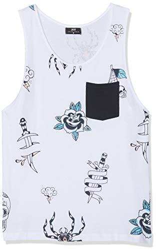 Inside 7EFT15 Camiseta de Tirantes, Blanco (Blanco 90), Small (Tamaño del Fabricante:S) para Hombre