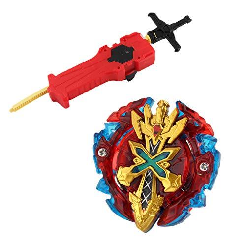 KESOTO Juguete de Peonza con Lanzador de Asamblea Lucha Maestro Regalo para Niños - Xeno Xcalibur .M.I B-48