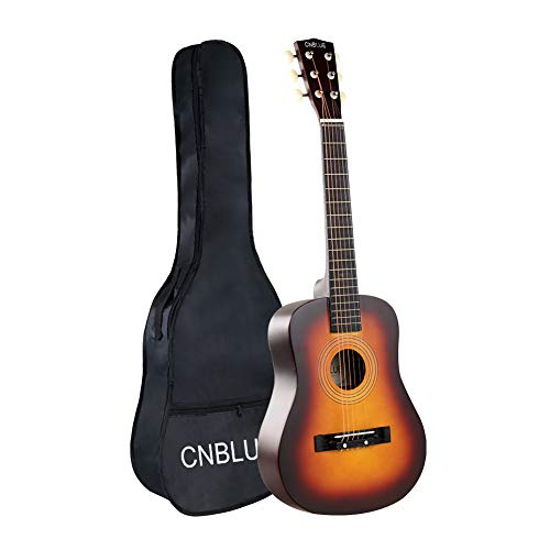 CNBLUE Kid Beginner Guitar Acoustic Classical Guitar 1/2 Size 30 Inch Guitar 6 Steel Strings for Beginner With Bag