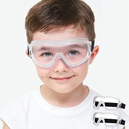 Gafas de seguridad para niños Gafas de seguridad protectoras para niños Prevenga las gotas Anti saliva Prevención de la infección por tos Estornudos Impacto y lente antibalas Blanco 2 unidades 🔥