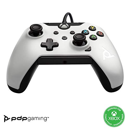 PDP Gaming - Mando con cable Licenciado (colo Blanco) (Xbox One)