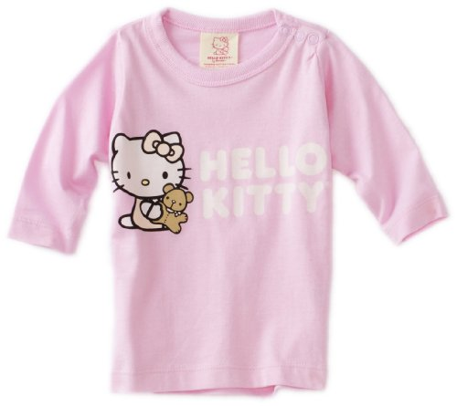 Hello Kitty Organics Baby-girls Infant Tiny Chum Long Sleeve Snap T-Shirt, Pink, 6-12 Months