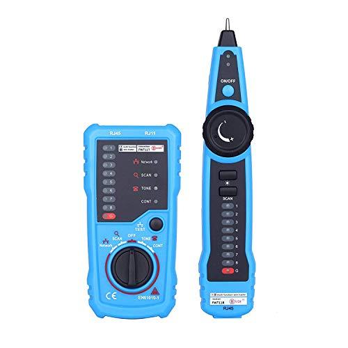 Gasdetektoranalysator Testare nätverkskabel RJ11 RJ45 Telefon Wire Tracker Tracer Toner Ethernet LAN linje Finder FWT11 Gasdetektor för propan