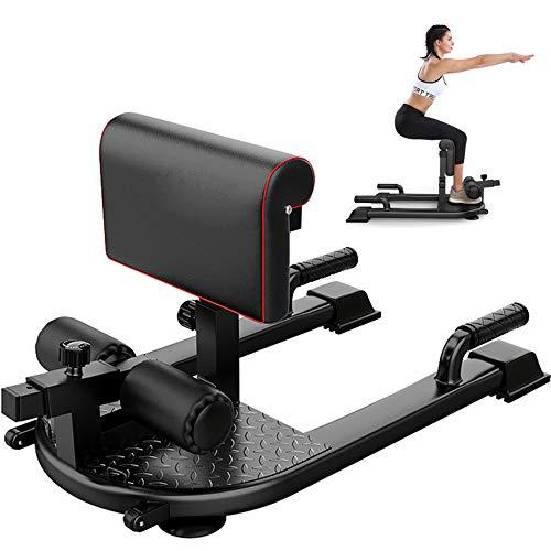 JZFUKSP Sissy Squat Machine - 3-in-1-Trainingsgerät für Bein-, Bauch- und Gesäß-Fitnessgeräte, schwarz