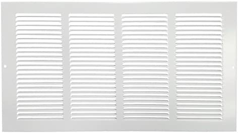 Hart Cooley 650 Series 16 x 8 White Flat Wall Return Air Grille 043139 Fits a 16 W x 8 H Hole product image