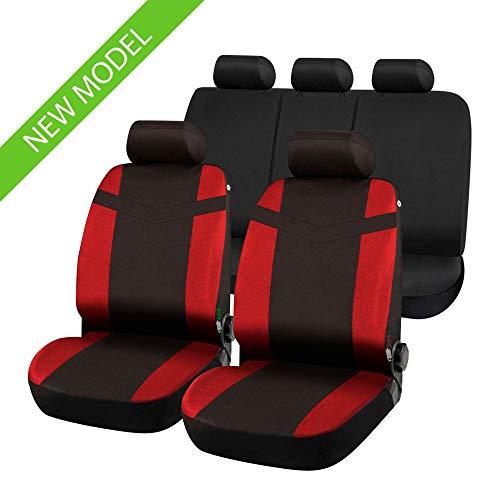 rmg-distribuzione Coprisedili compatibili per Pajero PININ Versione (1998-2006) compatibili con sedili con airbag, bracciolo Laterale, sedili Posteriori sdoppiabili R02S0558