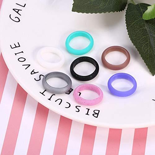 Juego de anillos de silicona de 5 tamaños Anillo de silicona Banda flexible para entrenamiento al aire libre sin riesgos(8)