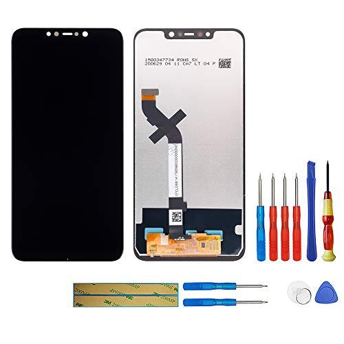 swark Pantalla LCD compatible con Xiaomi Pocophone F1 (negro), pantalla táctil, digitalizador, cristal de montaje + herramientas