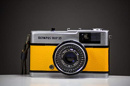 Olympus Trip35 35mm Film Camera Yellow Leather Skin | Fully Serviced