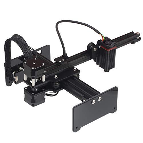 NEJE Master-2s 7 W Máquina de grabado láser portátil para escritorio, impresora láser para marcar láser para un grabado rápido y fácil corte, potencia de salida de 2,5 W