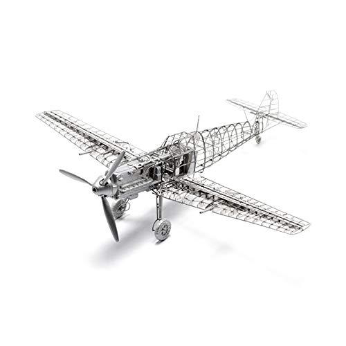 YYBF Kits De Modelo De Avión,Puzzle 3D Metal Modelos De Juguetes Kit De Rompecabezas Mecánico 3D Metal Modelo De Avión