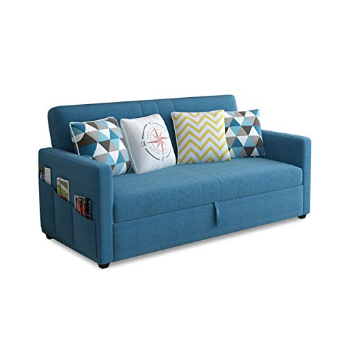 YUYTIN Three people Upholstered Linen Daybed - Diamond Latex fabric Sofa Bed with Large Storage Drawers - for Living Room, Bedroom, Guest Room,1.95m