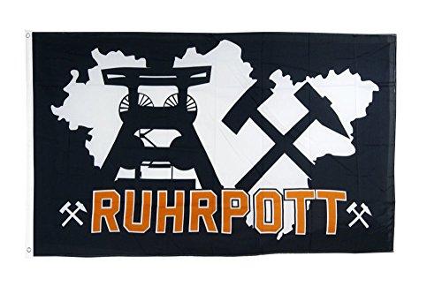 Flaggenfritze Fahne/Flagge Deutschland Ruhrpott Ruhrgebiet 4 + gratis Sticker
