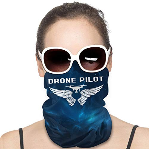 Drone Pilot with Wings Unisex Multi-Functional face mask Outdoor Headwear Scarf Black