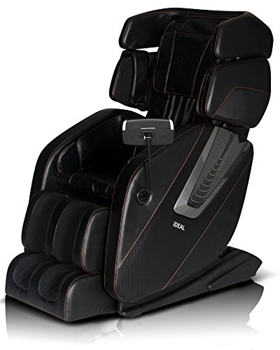 2017 NEW ICD-SPACE SAVING TECHNOLOGY MASSAGE CHAIR L-TRACK WITH ZERO GRAVITY BUILT IN HEAT AND FOOT ROLLING (Black)