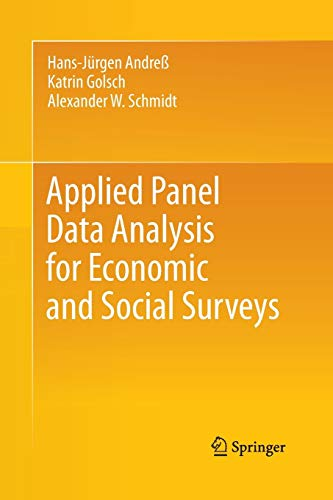 Applied Panel Data Analysis for Economic and Social Surveysの詳細を見る