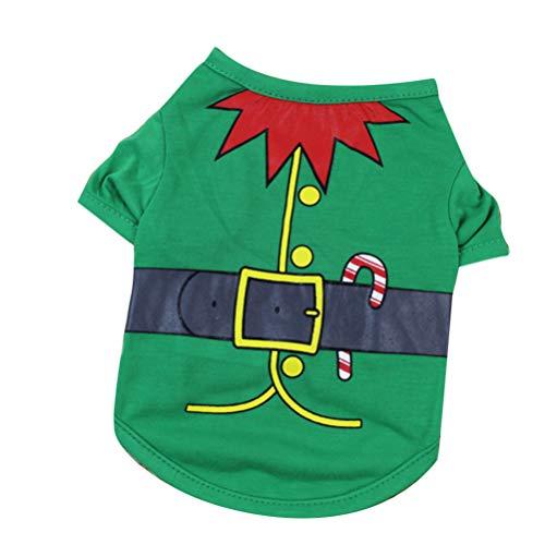Balacoo Elfo Reno elk Disfraz de Perro Mascota Feo suéter de Navidad Gato Gatito Abrigo Ropa Ropa de Perro para...