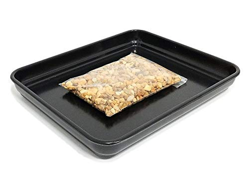 Eve's Garden Bonsai Humidity Drip Tray 8'x10' with Pebbles Eco friendly material, stronger, more durable, classier than plastic trays Overall size 8'x10' to fit a 6.75'x8.75' on the bottom of your pot