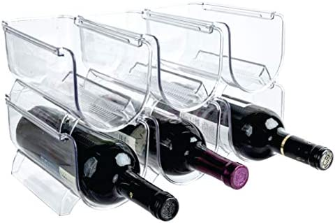 Homeries Wine Water Bottle Organizer Holder Set of 6 Stackable Wine Rack for Kitchen Countertops product image