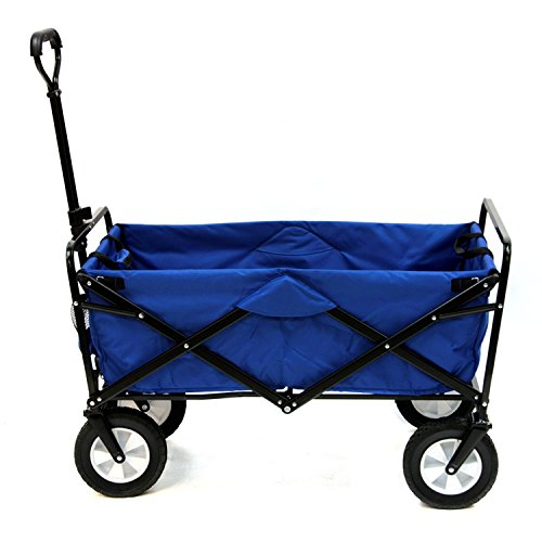 Meda | Collapsible Folding Outdoor Utility Wagon Cart (Blue)