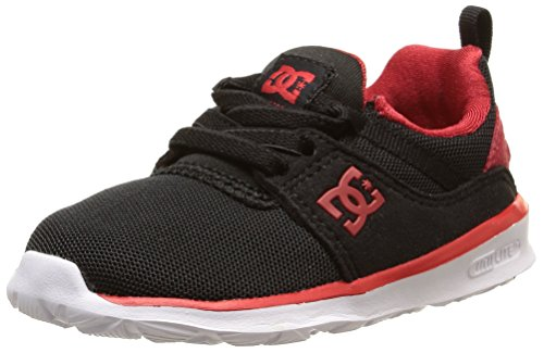 DC Shoes Unisex-Baby Heathrow T Sneaker, Schwarz Noir Black Red White, 21.5 EU