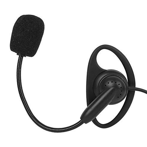 Walkie Talkie Auricular para Colocar sobre la Cabeza, Gancho para la Oreja de 3.5 Mm Radio Bidireccional Auricular Auricular con Intercomunicador con Cable Bluetooth para Motocicleta V6 V4
