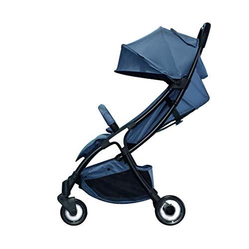 L&WB Faltbare Faltstriller-Stühle können Recline Shockproof Portable Baby Child Stroller Die Reise kann im Flugzeug 0~3 Jahre,Blue