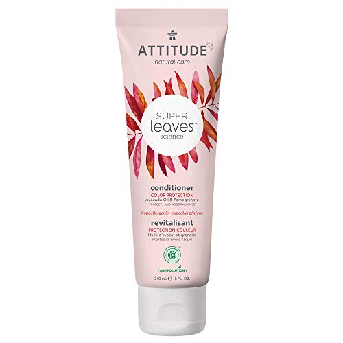 ATTITUDE Super Leaves, Hypoallergenic Nourishing & Strenghtening Conditioner, Grapeseed Oil & Olive Leaves, 8 Fluid Ounce