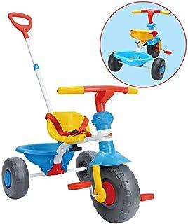 ChromeWheels Tricycle, con asa de empuje y asiento para niños de 1 a 3 años