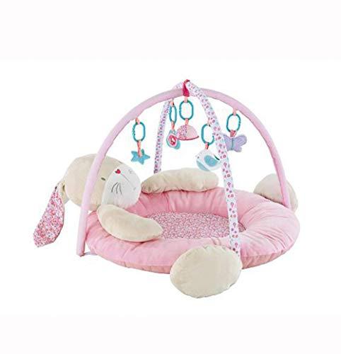 GYC Lernspielzeug Baby-Spielmatte und Neugeborenen-Aktivitäts-Fitnessstudio, geeignet für Baby-Spieledecke Baby-Krabbelmatte Baby-Spielzeug (Hase) für mehr als 0 Monate Geschenk