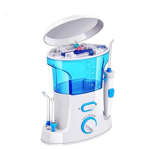 N \ A Flosser de Agua Dental para Limpieza de Dientes con 8 Puntas Multifuncionales Y Capacidad de 600 Ml, Diseño Silencioso de Irrigador Oral de Encimera Profesional