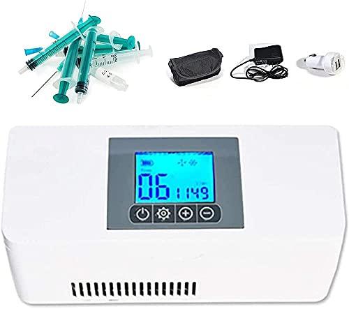 Qjkmgd Caja frigorífica de la insulina portátil, caja de enfriamiento de temperatura...