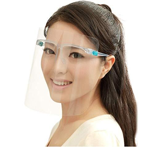PANGHU Protector Facial de Seguridad, Viseras de Seguridad Reutilizable Protección Completa, Viseras Lente Facial Transparente Ligera Antipolvo, Antivaho, Aantipolvo y Evitar la Saliva