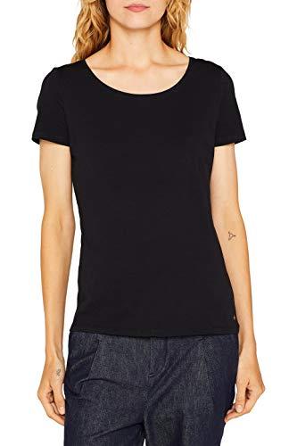 ESPRIT Damen 999Ee1K815 T-Shirt, Schwarz (Black 001), Small (Herstellergröße: S)