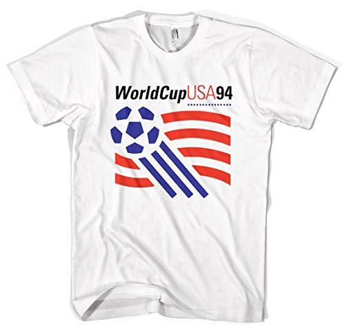 Revolver Tees USA '94 World Cup Logo Unisex T-Shirt (White, S)