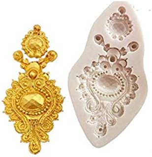 S.Han Silicone Brooch Jewellary Mould Fondant Mold Cake Decorating Tools Baking Mould